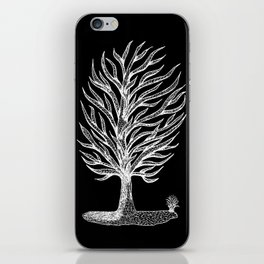 Windswept Tree Negative iPhone Skin