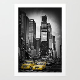 NEW YORK CITY Times Square | colorkey Art Print
