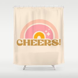 cheery cheers Shower Curtain