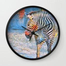 Watercolors- Zebra Wall Clock