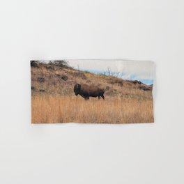 Stand Steady - Bison, Oklahoma Hand & Bath Towel