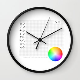 Art Interface - Hand Drawn with grid Wall Clock