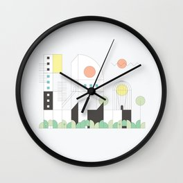 Forma 4 by Taylor Hale Wall Clock