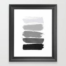 Greytone; Framed Art Print