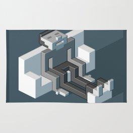 Couch slouch pixel artwork Rug