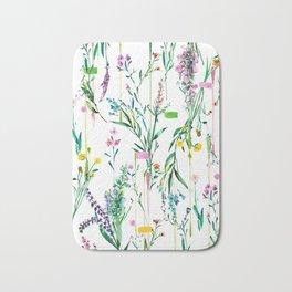 Fleur botanique Bath Mat