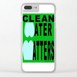 bbnyc's clean water statement #1 Clear iPhone Case