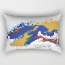 Celebration Navy Burgundy Gold Fluid Marble Painting Rectangular Pillow