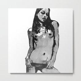 Olinka - Feminine nude drawing Metal Print