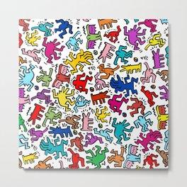 Figures Keith Haring Metal Print