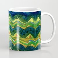 green pattern Mugs featuring Green pattern by Nato Gomes