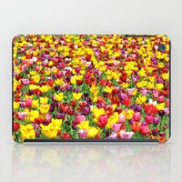 lv iPad Cases featuring SEA OF TULIPS by Teresa Chipperfield Studios