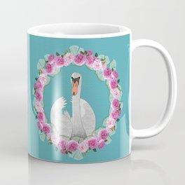 Swan and Roses Coffee Mug