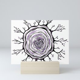 Watercolor Tree Ring, Purple Mini Art Print
