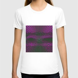 Wild Emerald Green Purple Circle 3D Abstract T-shirt