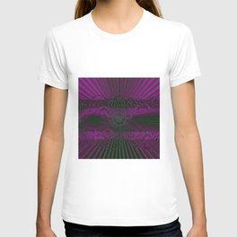 Wild Emerald Green Purple Circle 3D Abstract T-shirt