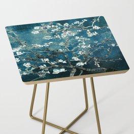 Van Gogh Almond Blossoms : Dark Teal Side Table