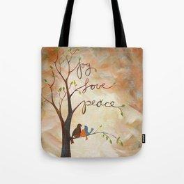 Joy, Love, Peace Tote Bag