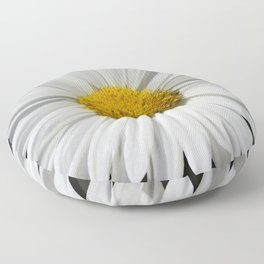 Contemporary White Daisy on Grey Pop Of Yellow Art A490 Floor Pillow
