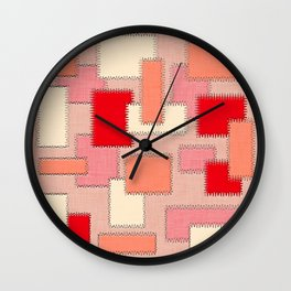 Peach Patches Wall Clock