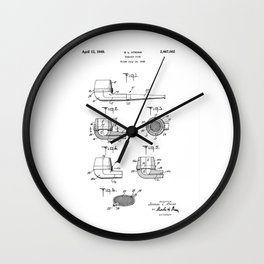patent art Atkins Tobacco Pipe 1949 Wall Clock