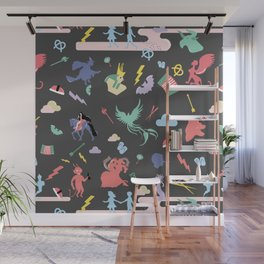 Myths // traditions pattern Wall Mural