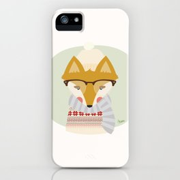 Cold Fox iPhone Case