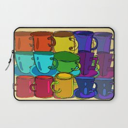 Tea Cups and Coffee Mugs Spectrum Laptop Sleeve