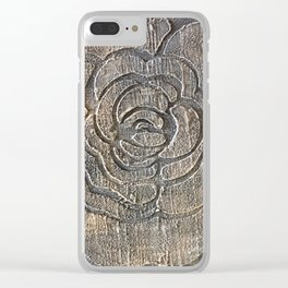 Novato Grey Tone Flower Painting Clear iPhone Case