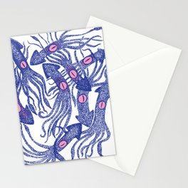 squids in fight Stationery Cards