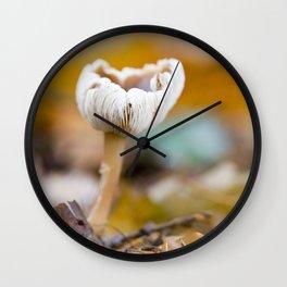 BUTTER CAP MUSHROOM ON WOODLAND FLOOR Wall Clock