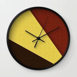 Retro Earth Tones Wall Clock