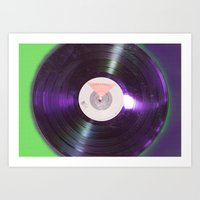 record Art Prints featuring Record  by Jonathan Hawks