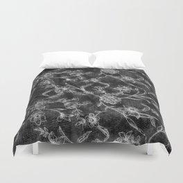 Flower Pattern (Black version) Duvet Cover