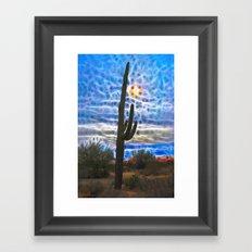 When Saguaro Dream Framed Art Print