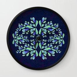 Blue drops. Wall Clock
