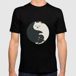 Hidden cat 26 yin yang hug T-shirt