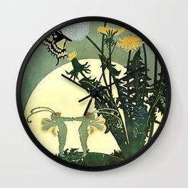 """""""If Nightmares Should Come"""" by D S Walker Wall Clock"""