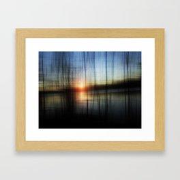 Sunset Blur Framed Art Print