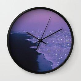 Purple magic Wall Clock