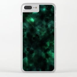 Digital Forest Cool Variant Clear iPhone Case
