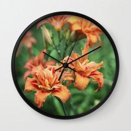 Deja Vu In Orange Wall Clock