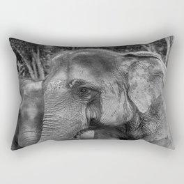 Asian Elephant-The Same But Different_B&W Rectangular Pillow