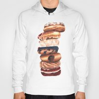 donuts Hoodies featuring Donuts! by Sam Luotonen