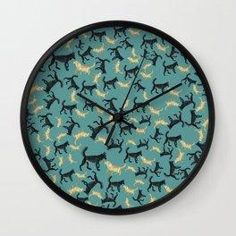 Romeo the wolf & Juliet Pattern Wall Clock