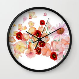 flowering Wall Clock
