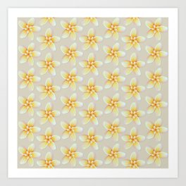 Yellow Flower, Floral Pattern, Yellow Blossom Art Print