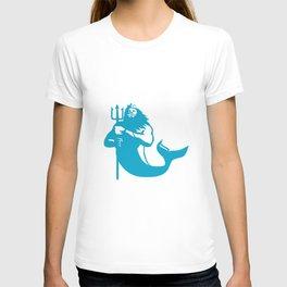 Triton Wielding Trident Retro T-shirt