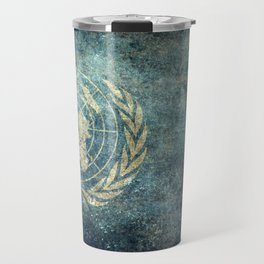 The United Nations Flag - Vintage version Travel Mug