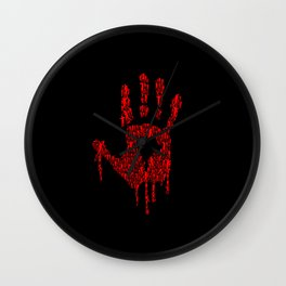 Hand Of Zombies Wall Clock